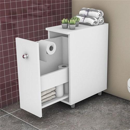 Balcão para Banheiro com 1 Gaveta BCM116 - Movelbento - Branco