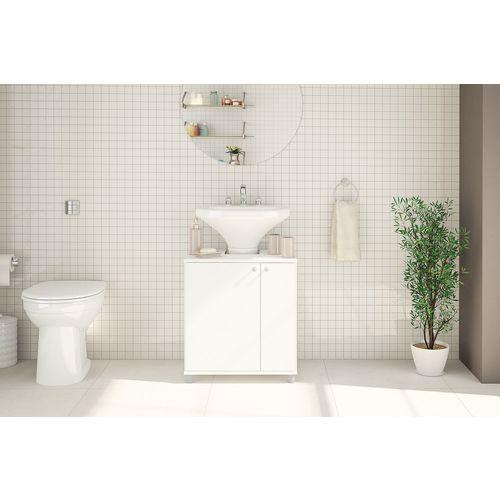 Balcão para Banheiro 2 Portas Branco