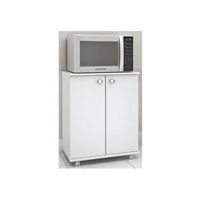 Balcão para Cozinha com Rodízios Bl3300 13 Tecno Mobili - Branco