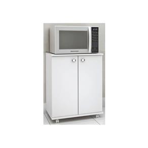 Balcão para Cozinha com Rodízios BL3300 Branco 13 Tecno Mobili