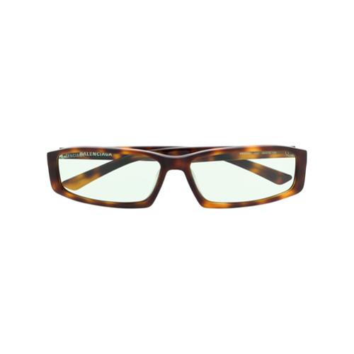 Balenciaga Eyewear Óculos de Sol Quadrado 'Neo' - Marrom