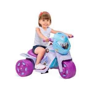 Ban Moto Frozen Azul/Roxa - EL 6V - Brinquedos Bandeirante