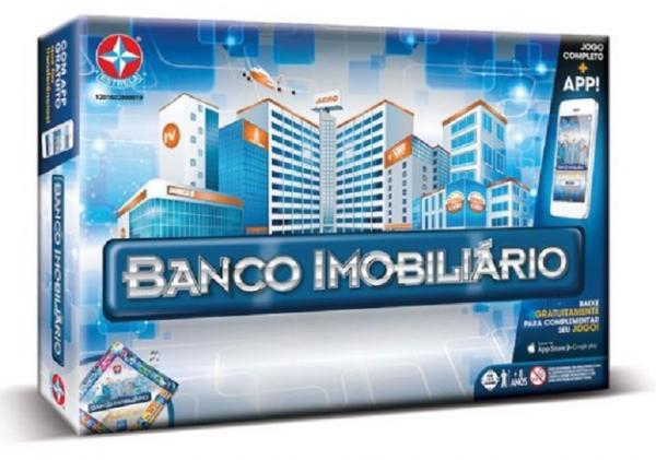 Banco Imobiliário com Aplicativo - Nova Edição - Jogo Tabuleiro - Estrela