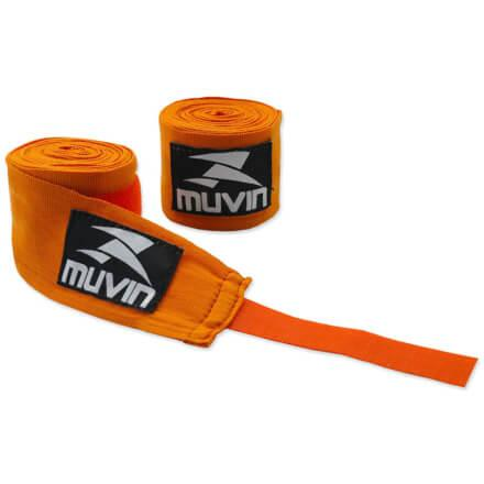 Bandagem Elástica - 300cm X 5cm - Laranja - Muvin BDG-300