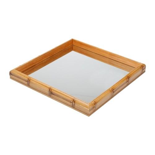 Tudo sobre 'Bandeja Bambu com Espelho 36X36X4cm'
