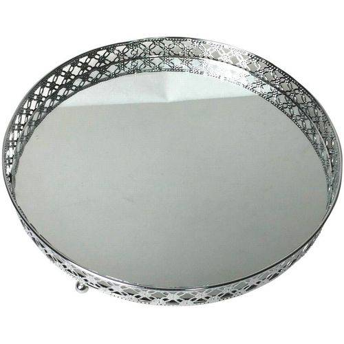 Tudo sobre 'Bandeja de Metal com Espelho Prata Round Edge Grande Urban'