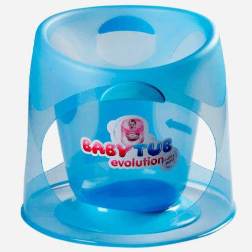 Banheira Bebê Ofurô Baby Tub Evolution 0 à 8 Meses Azul
