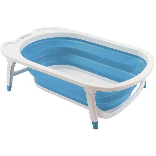 Tudo sobre 'Banheira Dobravel Flexi Bath Azul - Multikids'