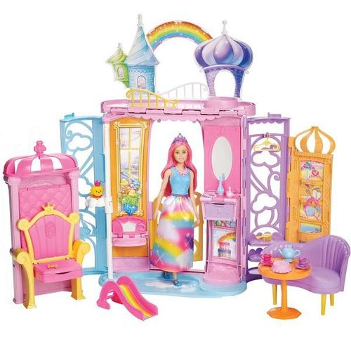 Barbie Castelo de Arco Iris Mattel Frb15