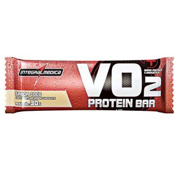 Barra Protéica e Energética Vo2 Protein Bar Intregralmédica Sabor Coco 30g