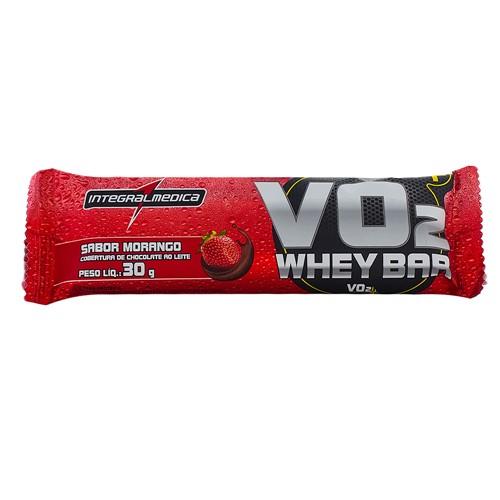 Barra Proteina VO2 Protein Bar Integralmédica Sabor Morango com 30g