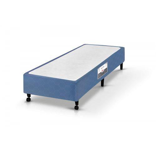 Base Box Solteiro 36cmx78cmx188cm SI Poli Castor Azul