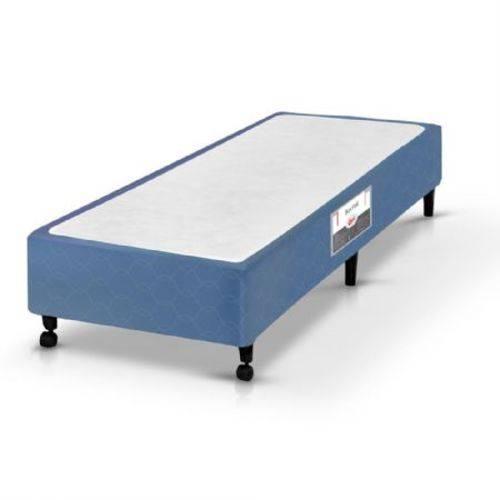 Base Cama Box Solteiro Castor Poliéster, Azul, 9149