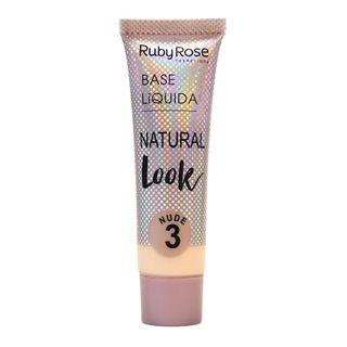 Base Líquida Natural Look Nude Ruby Rose L3