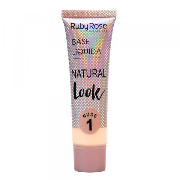 Base Líquida Ruby Rose Natural Look Nude 1 HB-8051 - 29ml