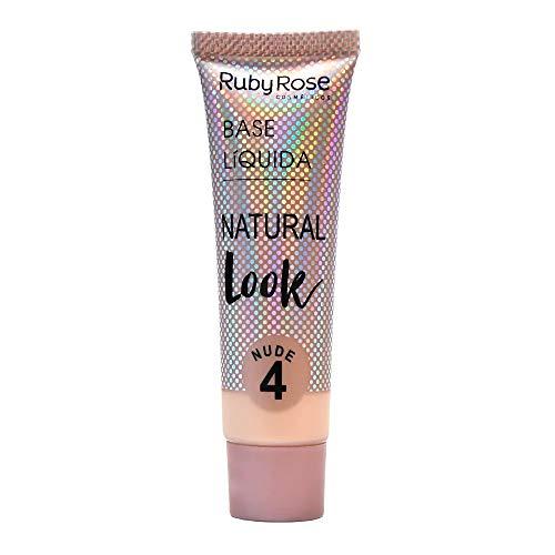 Base Líquida Ruby Rose Natural Look Nude 4 HB-8051-29ml