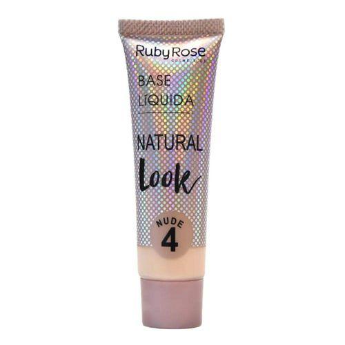 Base Líquida Ruby Rose Natural Look Nude 4 HB-8051 - 29ml