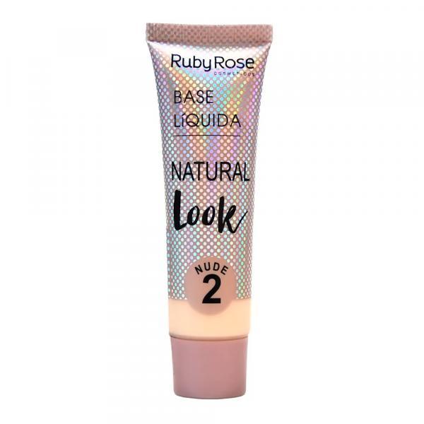 Base Líquida Ruby Rose Natural Look Nude 2 HB-8051 - 29ml
