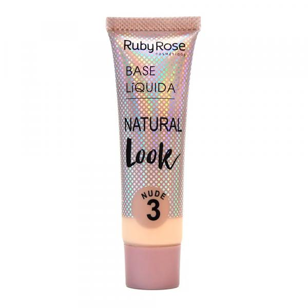Base Líquida Ruby Rose Natural Look Nude 3 HB-8051 - 29ml
