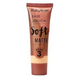 Base Líquida Ruby Rose Soft Matte Bege L3