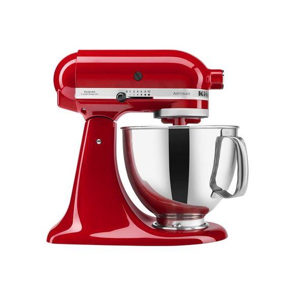 Tudo sobre 'Batedeira Kitchenaid Stand Mixer Vermelha 220V'