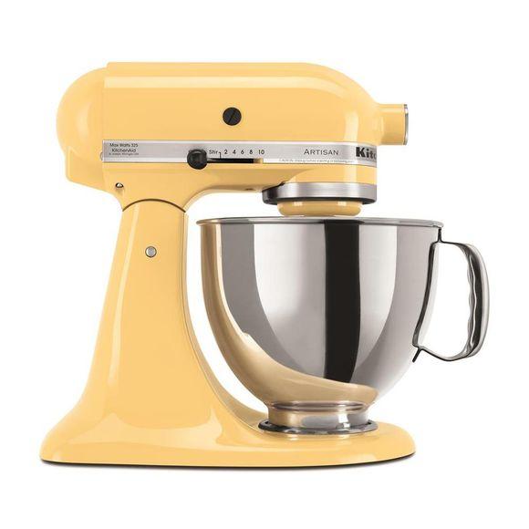 Tudo sobre 'Batedeira Stand Mixer Amarela 110V Kitchenaid'