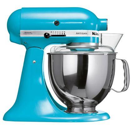 Tudo sobre 'Batedeira Stand Mixer Artisan - Crystal Blue 110V'