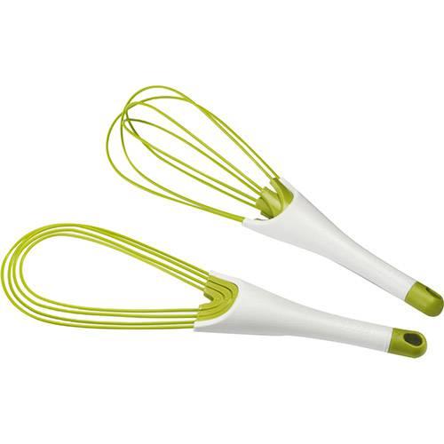 Batedor Whisk 2 em 1 Joseph & Joseph em Silicone Branco e Verde