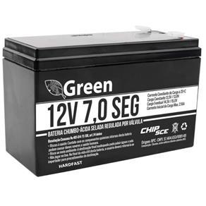 Bateria 12v 7,0 Seg Selada Green Chip Sce Alarme Nobreak Cerca 5.5a 1. Linha 013-3505