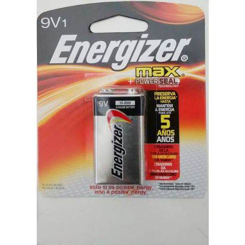 Bateria 9 Volts Alcalina Energizer Max 9v Cartela Individual