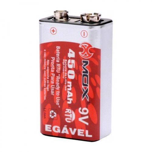 Tudo sobre 'Bateria 9V Recarregável 450 MAh Rtu - Mo-9V450 - Mox'