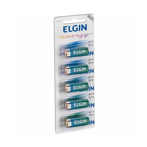 Bateria Alcalina 12v Elgin A23 C/ 05 Unidades
