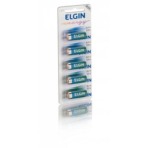 Bateria Alcalina Elgin A23 12 Volts Cartela com 5 Unidades