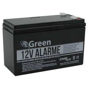 Bateria Chumbo Selada Multiuso para Alarme 12V 7A Green