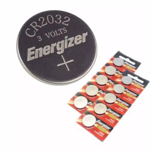 Bateria Cr 2032 Tipo Moeda Energizer Cartela C/ 10 Baterias