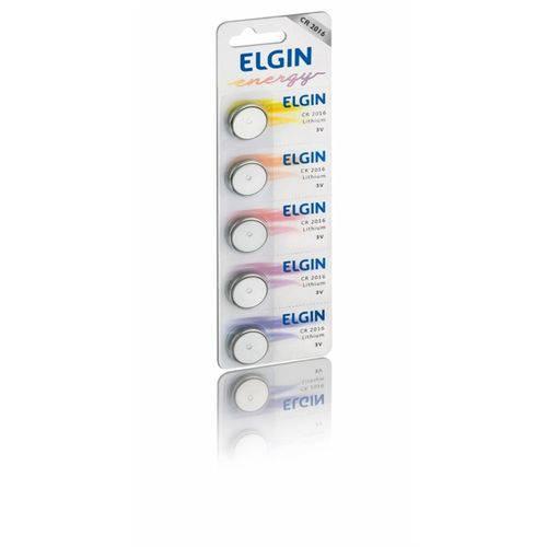 Bateria Elgin Lítio Cr2016 Energy 3v Blister C/5 Un