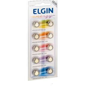 Bateria Elgin Lr54 1.5v com 10 Unidades Ag10 Lr1130