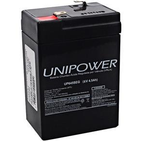 Bateria Estacionária Selada 6v/4,5ah UP645SEG Unipower
