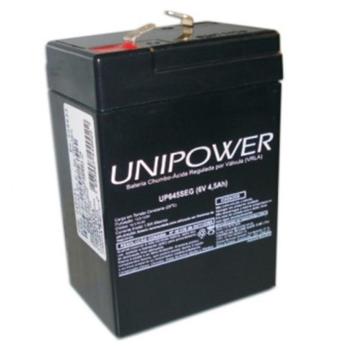 Bateria Multiuso Up645 6v 4,5a Selada Unipower