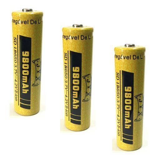 Tudo sobre '3 Bateria Recarregável JYX 18650 3,7v- 4,2v 9800 MAh'