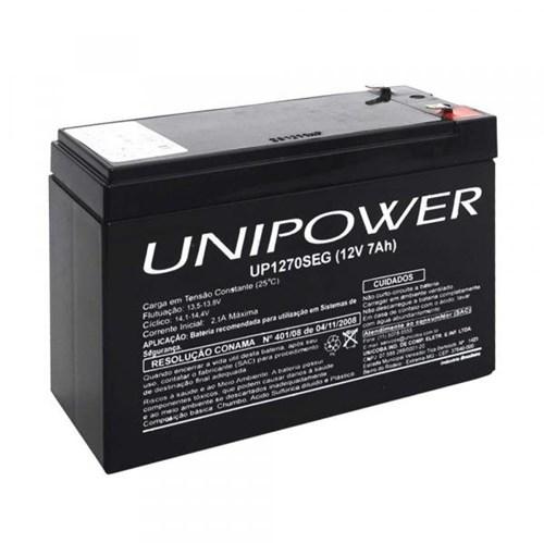 Tudo sobre 'Bateria Selada 12v/7a UP1270SEG Unipower'