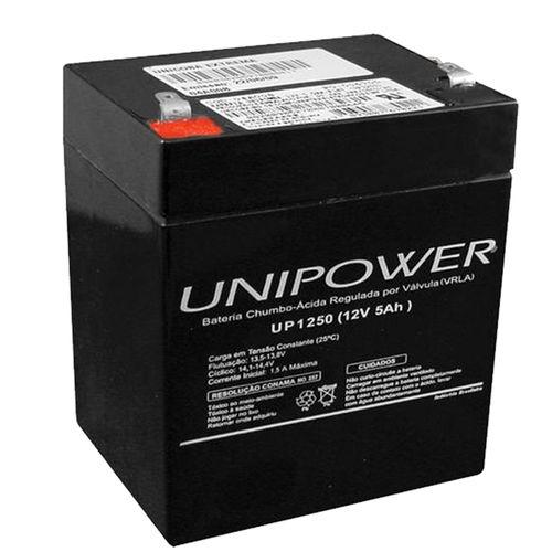Bateria Selada Vrla 12v 5,0ah F187 Up1250 – Unipower