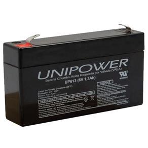 Bateria Selada VRLA 6V 1,3Ah F187 UP613 ? Unipower