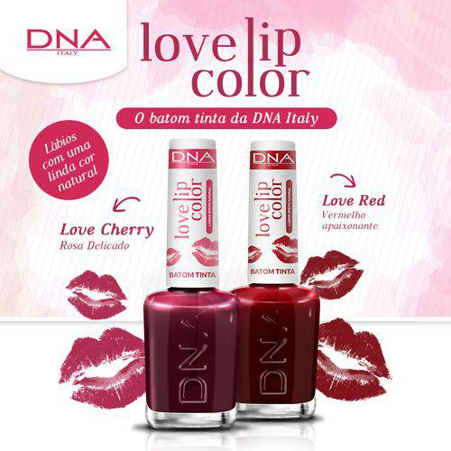 Tudo sobre 'BATOM TINTA - LOVE LIP COLOR – KIT LOVE RED e LOVE CHERRY – DNA ITAL'