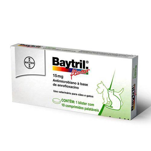 Baytril 15MG - 10/Comprimidos