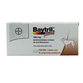 Baytril Flavour 150mg 10 Comp - Bayer (Antibiótico Cães)
