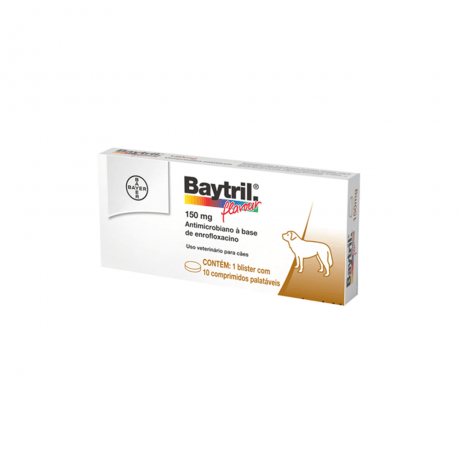 Baytril Flavour 150mg com 10 Comprimidos - Bayer