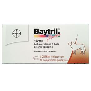 Baytril Flavour Bayer 15mg para Cães com 10 Comprimidos
