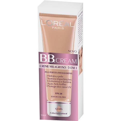 Tudo sobre 'BB Cream L'Oréal Paris FPS20 Cor Clara'