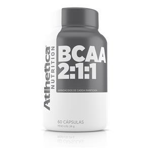 Bcaa 2:1:1 Atlhetica Nutrition 60 Cápsulas - Sem Sabor - 2x60 Caps